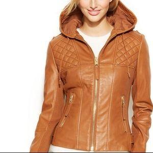 Michael Kors Sz Sm Brown Leather Jacket